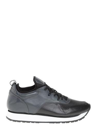 D by Divarese %100 Deri  Spor Ayakkabı Siyah